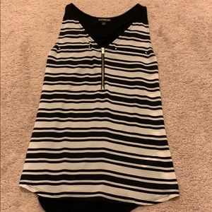 Express Tops - Express black and white striped top